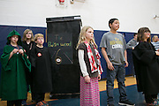 """The team from Crane Elementary School prepare to compete in the """"Stack Attack"""" challenge at the Odyssey of the Mind Region 14 tournament at Spencerport High School on Saturday, March 12, 2016."""