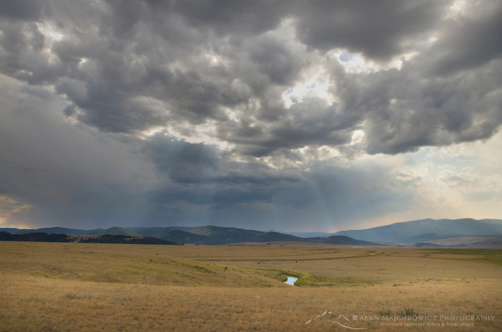 Summer storm over the Rocky Mountains in Granite County Montana