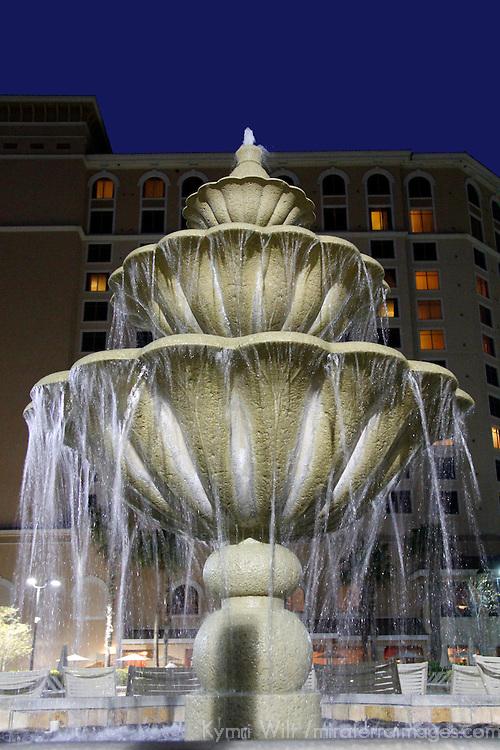 USA, Florida, Orlando. Fountain at Rosen Shingle Creek Resort.