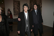 Ronnie Wood and Bryan Ferry, Gilbert and George Major Exhibition. Tate Modern. Afterwards dinner at Christchurch Spitafields. London. 13 February 2007.  -DO NOT ARCHIVE-© Copyright Photograph by Dafydd Jones. 248 Clapham Rd. London SW9 0PZ. Tel 0207 820 0771. www.dafjones.com.