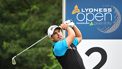 05.06.2014, Country Club Diamond, Atzenbrugg, AUT, Lyoness Golf Open, im Bild Lukas Tintera (CZE) // Lukas Tintera (CZE) in action during the Austrian Lyoness Golf Open at the Country Club Diamond, Atzenbrugg, Austria on 2014/06/05. EXPA Pictures © 2014, PhotoCredit: EXPA/ Sascha Trimmel