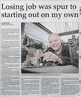 Newspaper cuttings for Shine pix Ltd..Pictures by Shaun Fellows / Shine Pix Ltd..