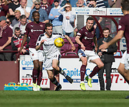 Dundee&rsquo;s Cammy Kerr and Hearts&rsquo; Don Cowie - Hearts v Dundee in the Ladbrokes Scottish Premiership at Tynecastle, Edinburgh, Photo: David Young<br /> <br />  - &copy; David Young - www.davidyoungphoto.co.uk - email: davidyoungphoto@gmail.com