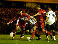 Photo: Jed Wee.<br /> Middlesbrough v Charlton Athletic. The FA Cup. 12/04/2006.<br /> <br /> Middlesbrough's James Morrison (R) strides through a defensive mix up to restore their lead.