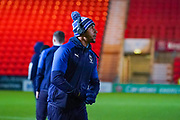 AFC Wimbledon defender Terell Thomas (6) arrives at the ground during the The FA Cup match between Doncaster Rovers and AFC Wimbledon at the Keepmoat Stadium, Doncaster, England on 19 November 2019.