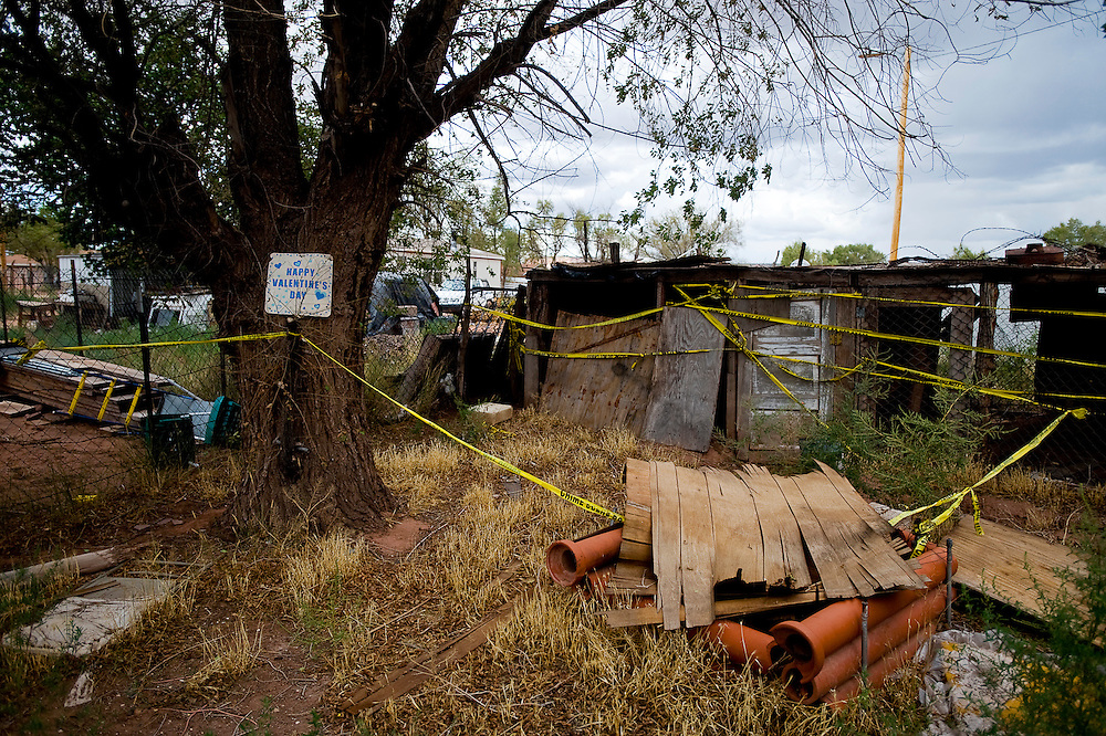091709   Brian Leddy.A backyard in Zuni was the scene of an alleged grizzly murder in January of this year. Authorities believe Floyd Yuselew murdered Tyler Quam and buried his body in the backyard chicken coop of his home.