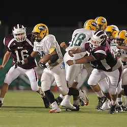 31 October, 2008: St. Thomas Aquinas LB/WB Charles Robert Miller  (#16) St. Thomas Aquinas DT/OT Brandon Black  (#74)  The St. Thomas Falcons recorded their first shut out of the season with a 41-0 shutout of the Southern Lab Kittens at Strawberry Stadium in Hammond, LA.