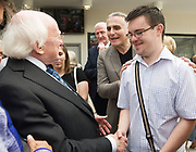 21/07/2018 repro free: President Michael D. Higgins  at the First Thought Talks strand at Galway International Arts Festival on Saturday July 21 in the Bailey Allen Hall in NUI Galway. The President launched this year&rsquo;s talks series with a reflection on the theme of home, which is the main theme of the talks. <br /> Afterwards he was greeted by hundreds of well wishers one of which was Daniel Kidd.<br /> The First Thought Talks programme at GIAF features a series of interviews, conversations and debate which will examine the theme of home, curated by historian and archivist Catriona Crowe. First Thought Talks 2018 features 18 talks from academics, activists, architects, reporters, poets and writers with 43 participants including President Michael D. Higgins, Catherine Corless, Andrew O&rsquo;Hagan, John Lanchester, Sarah Hickson, Liz Fekete, Roy Foster, Tomi Reichental, Mitchell Joachim, Paula Meehan, Lucy McDiarmid and Diarmuid Ferriter amongst an extensive number of leading international voices and journalists from around the world. For more see www.giaf.ie<br /> Pictures: Andrew Downes/Xposure