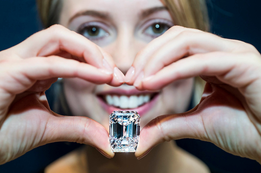 "Sotheby's unveils a diamond unlike any offered before: an extraordinary 100-carat perfect diamond in a classic Emerald-cut. The remarkable 100.20-carat, D color, Internally Flawless, Type IIa stone will highlight Sotheby's Magnificent Jewels auction in New York on 21 April 2015, when it is estimated to sell for US$19-25 million. At this scale, diamonds of this exceptional quality – D color and Internally Flawless clarity – are incredibly rare, and are considered ""perfect"". The present example joins an elite group of just five comparable-quality diamonds over 100 carats that have ever been sold at auction worldwide."