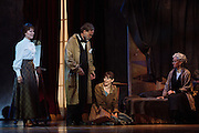 "Boyd Gaines as Edgar Degas speaks to Tiler Peck, center, as Young Marie van Goethem as Rebecca Luker listens as Adult Marie van Goethem during the scene ""What You Made of Me"" in Little Dancer at the Kennedy Center in Washington, D.C. This is a world premiere Kennedy Center produced production that is directed and choreographed by Susan Stroman, book and lyrics by Lynn Ahrens, and music by Stephen Flaherty."