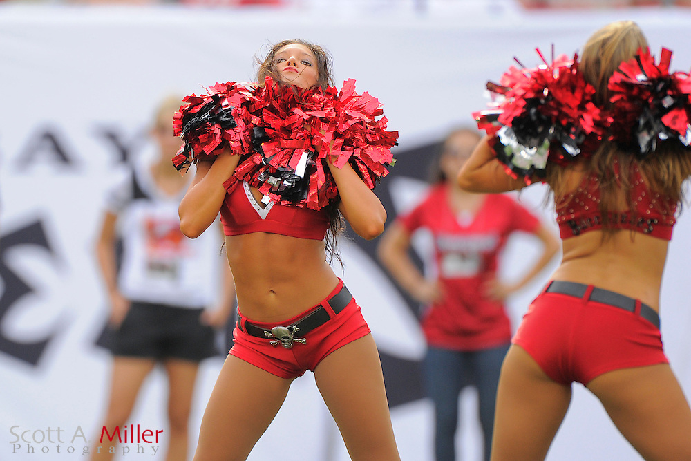 Tampa Bay Buccaneers cheerleaders during the Bucs game against the Carolina Panthers at  Raymoind James Stadium  on September 9, 2012 in Tampa, Florida. ..(SPECIAL TO FOXSPORTS.COM/Scott A. Miller)...