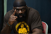 Houston, Texas - February 18, 2016: Kimbo Slice waits backstage before the Bellator 149 weigh-ins at the Toyota Center in Houston, Texas on February 18, 2016. (Cooper Neill for ESPN)