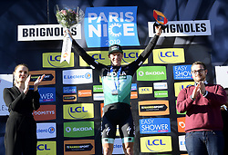 March 15, 2019 - Brignoles, France - BRIGNOLES, FRANCE - MARCH 15 : BENNETT Sam (IRL) of BORA - HANSGROHE pictured during the podium ceremony of stage 6 of the 2019 Paris - Nice cycling race with start in Peynier and finish in Brignoles  (176,5 km) on March 15, 2019 in Brignoles, France, 15/03/2019 (Credit Image: © Panoramic via ZUMA Press)