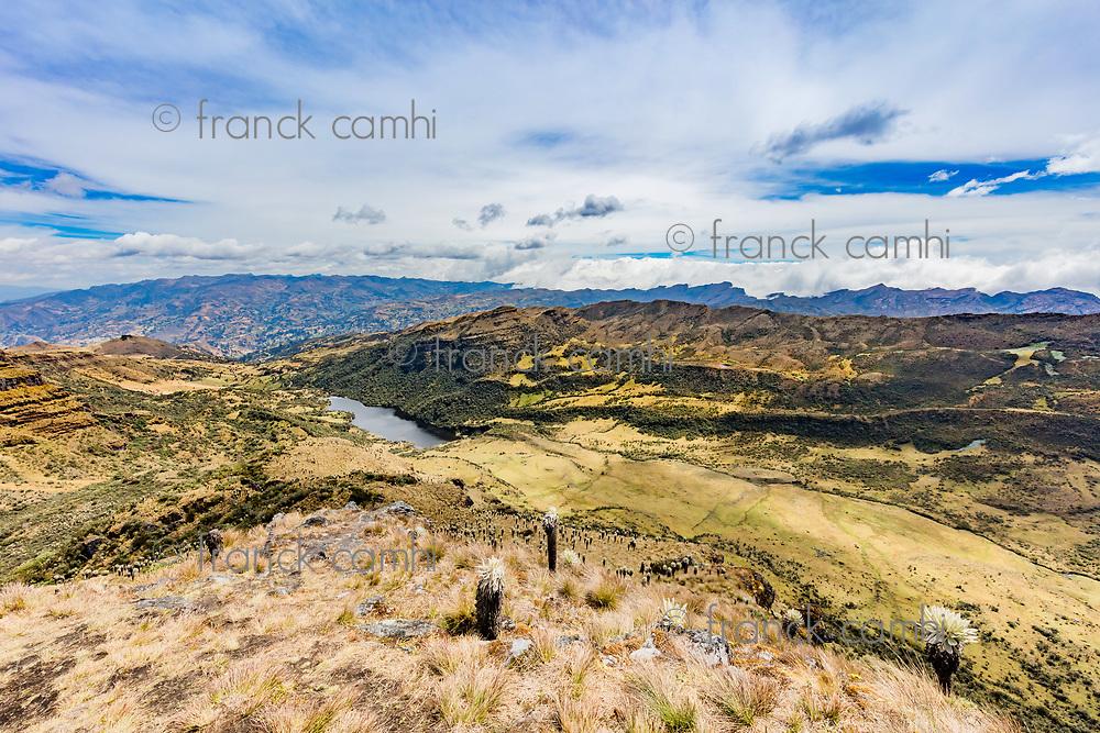 Paramo de Oceta and his Laguna negra Mongui Boyaca in Colombia South America