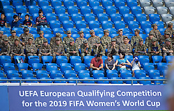 ASTANA, KAZAKHSTAN - Sunday, September 17, 2017: Kazakhstan army personally during the FIFA Women's World Cup 2019 Qualifying Round Group 1 match between Kazakhstan and Wales at the Astana Arena. (Pic by David Rawcliffe/Propaganda)