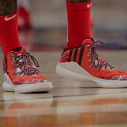 Nov 28, 2018; New Orleans, LA, USA; Shoes worn by Washington Wizards guard John Wall against the New Orleans Pelicans during the second half at the Smoothie King Center. Mandatory Credit: Derick E. Hingle-USA TODAY Sports