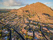 Troon Country Club drone aerial real estate photography, Scottsdale, AZ