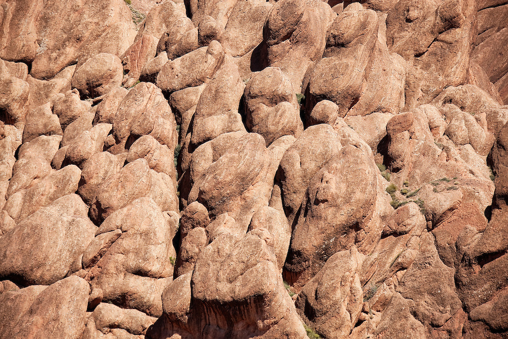 Rocks in the Dades valley, Morocco.