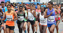 December 16, 2018 - Kolkata, West Bengal, India - Elite group of athletes run during Tata Steel Kolkata 25K 2018. (Credit Image: © Saikat Paul/Pacific Press via ZUMA Wire)