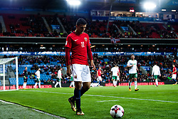 October 8, 2017 - Oslo, NORWAY - 171008  Mohamed Elyounoussi of Norway during the FIFA World Cup Qualifier match between Norway and Northern Ireland on October 8, 2017 in Oslo..Photo: Vegard Wivestad Grøtt / BILDBYRÃ…N / kod VG / 170029 (Credit Image: © Vegard Wivestad GrØTt/Bildbyran via ZUMA Wire)