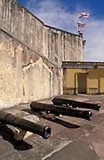 Cannons at San Cristóbal fortress; San Juan National Historic Site, Old San Juan, Puerto Rico..