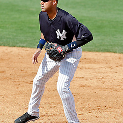 March 2, 2011; Tampa, FL, USA; New York Yankees shortstop Derek Jeter (2) during a spring training exhibition game against the Houston Astros at George M. Steinbrenner Field.  Mandatory Credit: Derick E. Hingle