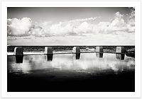 Ross Jones Pool, Coogee Beach, Sydney [Coogee, NSW]<br /> <br /> To purchase please email orders@girtbyseaphotography.com quoting the image number 304953BW, and your preferred print size. You will receive a quick reply recommending print media options to best suit your chosen image, plus an obligation-free quotation. Current standard size prices are published on the Pricing page.