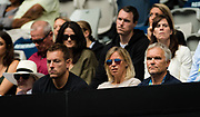 Caroline Wozniackis Parents look her during her first round match at the 2020 Australian Open, WTA Grand Slam tennis tournament on January 20, 2020 at Melbourne Park in Melbourne, Australia - Photo Rob Prange / Spain ProSportsImages / DPPI / ProSportsImages / DPPI
