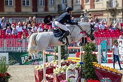 NIEBERG Gerrit (GER), CONTAGIO<br /> Münster - Turnier der Sieger 2019<br /> MARKTKAUF - CUP<br /> BEMER-Riders Tour - Qualifier for the rating competition (comp no 11)  - Stechen<br /> CSI4* - Int. Jumping competition with jump-off (1.50 m) - Large Tour<br /> 03. August 2019<br /> © www.sportfotos-lafrentz.de/Stefan Lafrentz