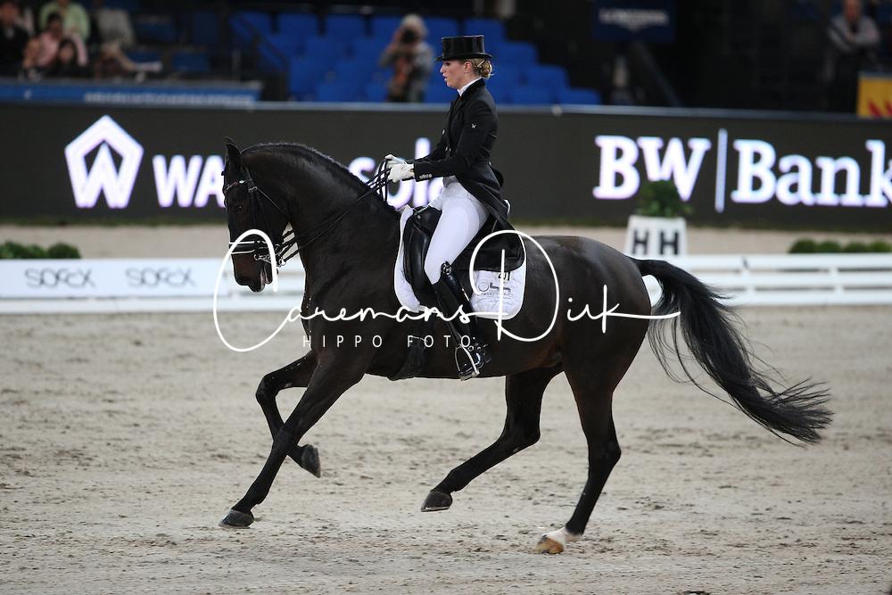 Barbancon Mestre Morgan, (ESP), Vitana V<br /> Grand Prix Special<br /> Reem Acra FEI World Cup Dressage<br /> Stuttgart - German Masters 2015<br /> &copy; Hippo Foto - Stefan Lafrentz