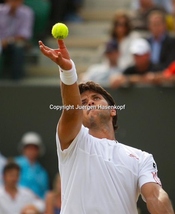 Wimbledon 2009,Sport, Tennis, ITF Grand Slam Tournament,  ..Fernando Verdasco (ESP),action..Foto: Juergen Hasenkopf..