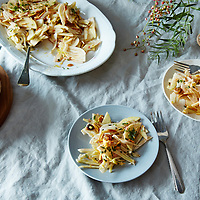shaved fennel and apple salad with sultanas mint and almond