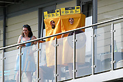 Spectators on a balcony dressed in a sandpaper costume to remind the Australians on the incident last year during the ICC Cricket World Cup 2019 match between Afghanistan and Australia at the Bristol County Ground, Bristol, United Kingdom on 1 June 2019.