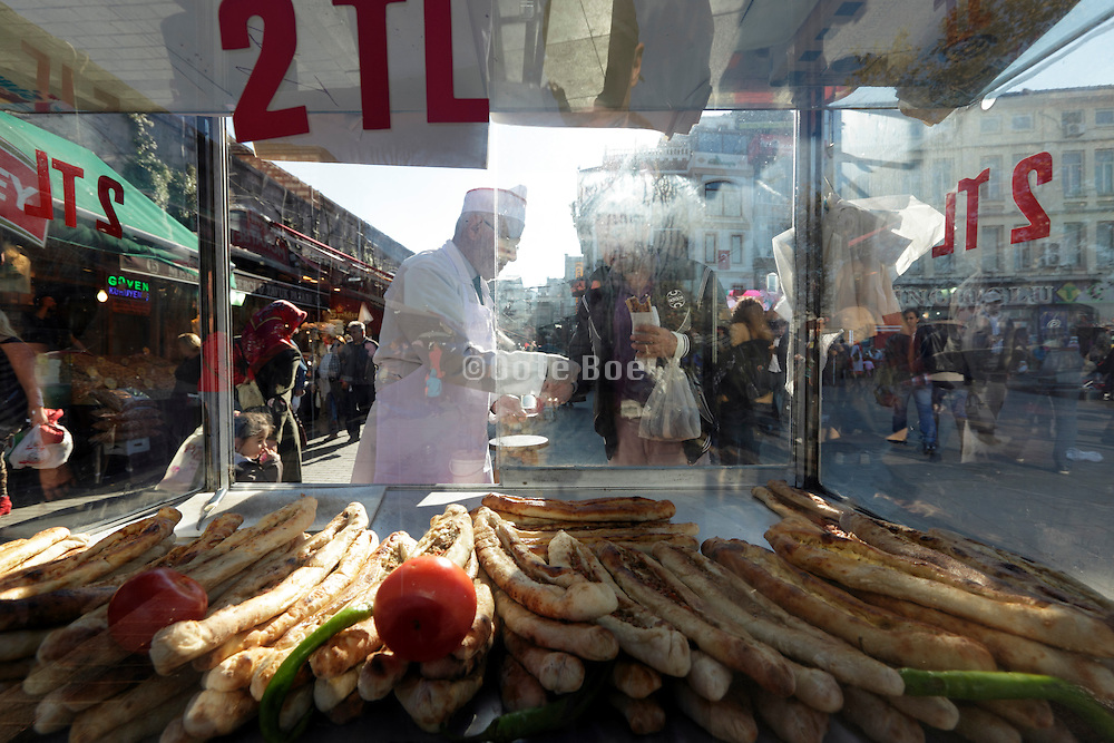 food cart with bread Istanbul