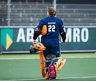 AMSTELVEEN - Hockey - Hoofdklasse competitie dames. AMSTERDAM-LAREN (2-0)  . keeper Karlijn Adank (Laren)   COPYRIGHT KOEN SUYK