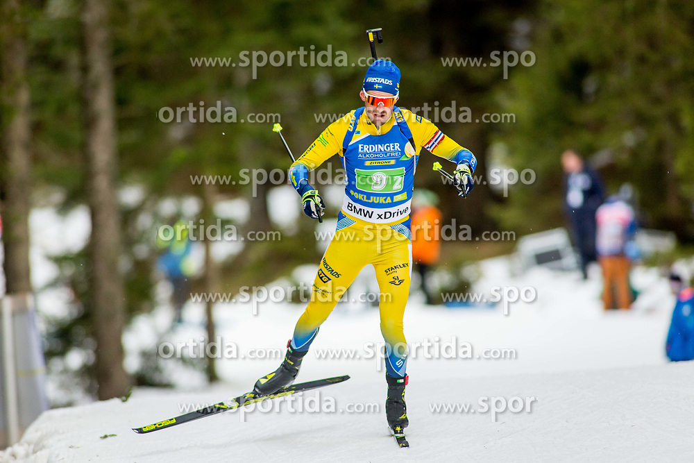 Fredrik Lindstroem (SWE) during Single Mixed Relay at day 1 of IBU Biathlon World Cup 2018/19 Pokljuka, on December 2, 2018 in Rudno polje, Pokljuka, Pokljuka, Slovenia. Photo by Ziga Zupan / Sportida