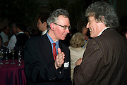 DANIEL JOHNSON AND SIR TOM STOPPARD, Launch of the new magazine 'Standpoint'. Wallace Collection. Manchester Sq. London. 28 May 2008.  *** Local Caption *** -DO NOT ARCHIVE-© Copyright Photograph by Dafydd Jones. 248 Clapham Rd. London SW9 0PZ. Tel 0207 820 0771. www.dafjones.com.