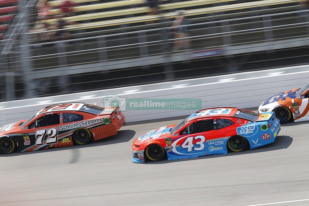 August 12, 2018 - Brooklyn, Michigan, United States of America - Corey LaJoie (72) and Darrell Wallace, Jr (43) battle for position during the Consumers Energy 400 at Michigan International Speedway in Brooklyn, Michigan. (Credit Image: © Chris Owens Asp Inc/ASP via ZUMA Wire)