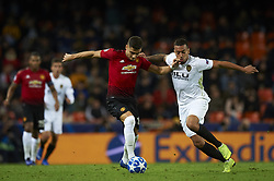 December 12, 2018 - Valencia, Spain - Andreas Pereira of Manchester United and Ruben Vezo of Valencia during the match between Valencia CF and Manchester United at Mestalla Stadium in Valencia, Spain on December 12, 2018. (Credit Image: © Jose Breton/NurPhoto via ZUMA Press)