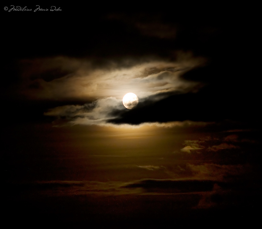 Fullmoon Night with cloudy sky in Kerry, Ireland / lg032