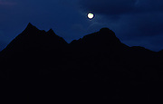 Moonrise over Olomana, Oahu, Hawaii<br />
