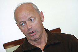 Franc Hvasti at press conference before World Championship 2008 in Varese (ITA), on September 19, 2008, in Ljubljana, Slovenia. (Photo by: Vid Ponikvar / Sportal Images)./ Sportida)