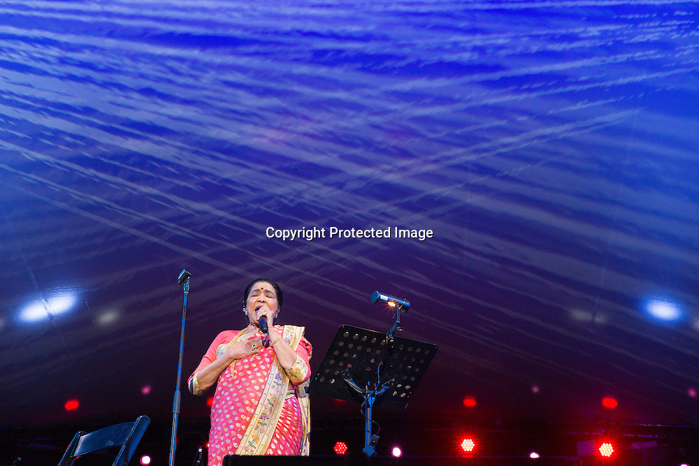 Asha Bhosle a Bollywood singer since the late 1940's plays at Womadelaide 2016 Music Festival held between 11 - 14 March 2016 in Adelaide, South Australia