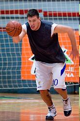 Matej Krusic at practice of KK Slovan basketball team, on February 3, 2010 in Arena Kodeljevo, Ljubljana, Slovenia.  (Photo by Vid Ponikvar / Sportida)