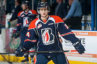 KELOWNA, CANADA - DECEMBER 17: Deven Sideroff #34 of Kamloops Blazers skates against the Kelowna Rockets on December 27, 2014 at Prospera Place in Kelowna, British Columbia, Canada.  (Photo by Marissa Baecker/Shoot the Breeze)  *** Local Caption *** Deven Sideroff;
