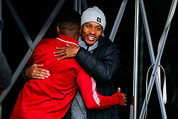 Bobby Reid of Fulham catches up with former Bristol City teammate Niclas Eliasson of Bristol City - Rogan/JMP - 07/12/2019 - Craven Cottage - London, England - Fulham v Bristol City - Sky Bet Championship.