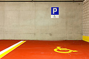 new underground parking, disable
