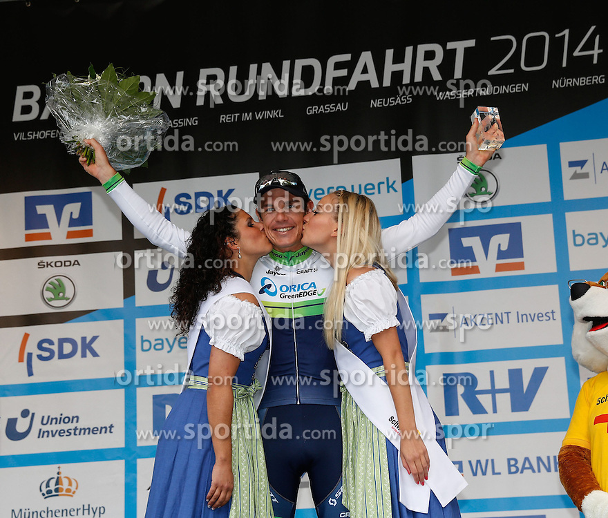 30.05.2014, Neusaess, GER, 35. Bayern Rundfahrt, 3. Etappe, Grassau - Neusaess, im Bild Daryl Impey (RSA, Team Orica GreenEdge), Etappensieger in Neusaess, Siegerehrung // the 3rd stage of the 35th Tour of Bavaria from Grassau to Neusaess Neusaess, Germany on 2014/05/30. EXPA Pictures &copy; 2014, PhotoCredit: EXPA/ Eibner-Pressefoto/ Krieger<br /> <br /> *****ATTENTION - OUT of GER*****