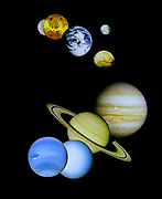 Composite image depicting the planets in the terrestrial Solar System.
