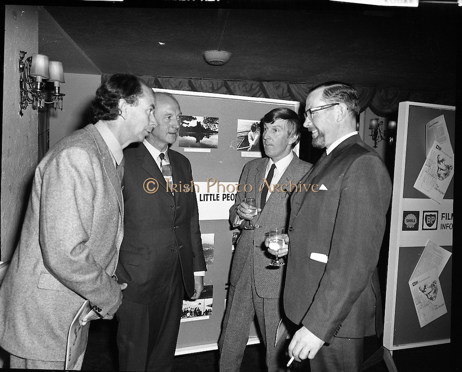 "Premiere of ""The Little People"".A film by Irish Shell & BP Irl,Ltd..1971.26.04.1971..04.26.1971..26th April 1971..At the Savoy Cinema, O'Connell St, Dublin Irish Shell and BP Irl Ltd premiered the showing of their new film ""The Little People"". Guest of honour at the showing was the Taoiseach, Mr Jack Lynch. He was accompanied by other members of the government. After the film they repaired to The Gresham Hotel, O'Connell St, for refreshments...Pictured at the premiere of ""The Little People"" were (L-R), Mr Vincent Corcoran, Vincent Corcoran Productions, An Taoiseach, Mr Jack Lynch TD, Mr Tony Gray, Script Writer and Mr Bernard A Nolan,Managing Director,Irish Shell and BP Ltd."